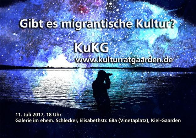 Flyer gibt es migrantische Kultur