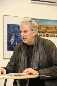 Norbert Aust las ernste und heitere Texte zur Kultur des Judentums.